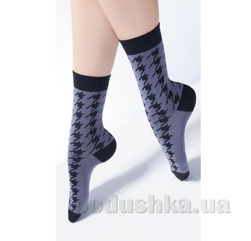 Носки женские с принтом гусиная лапка CG-08 Giulia fumo