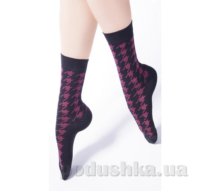 Носки женские с принтом гусиная лапка CG-08 Giulia nero