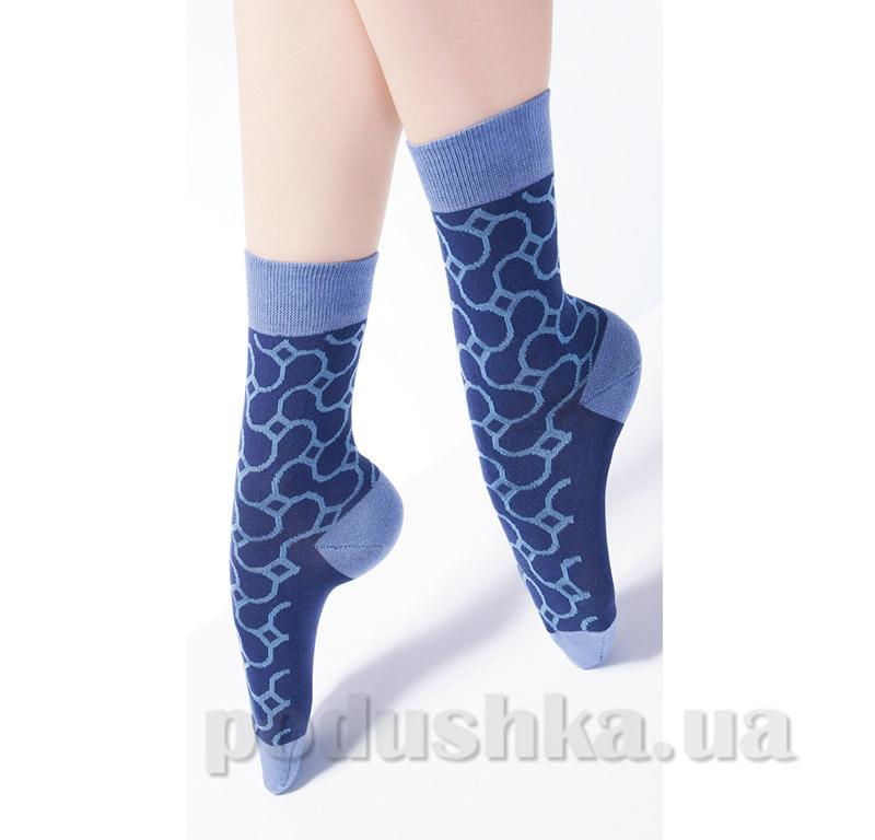 Носки женские с узором CG-06 Giulia dark bleu