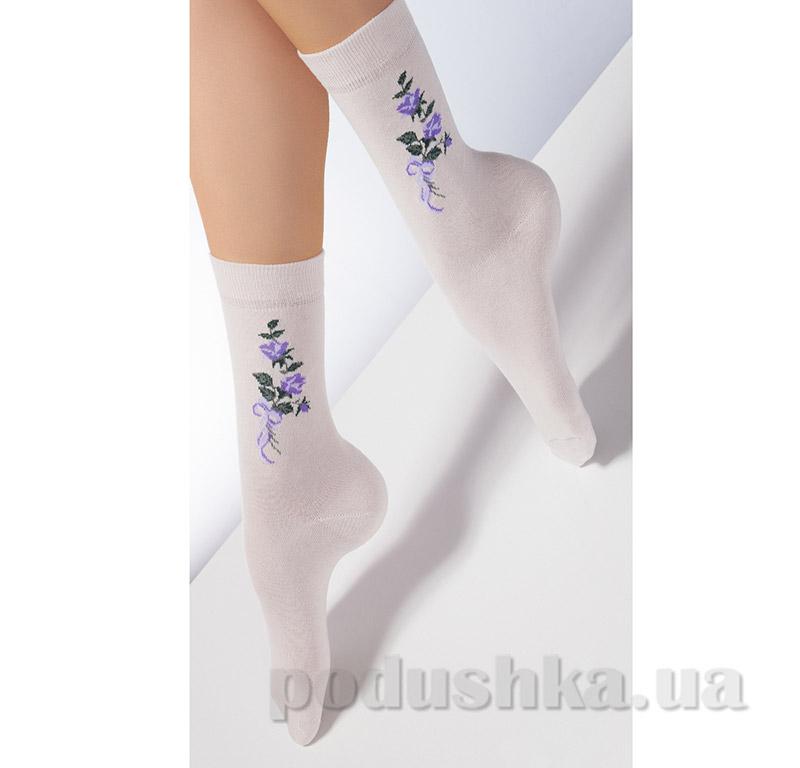 Носки женские с узором CP-01 Giulia panna