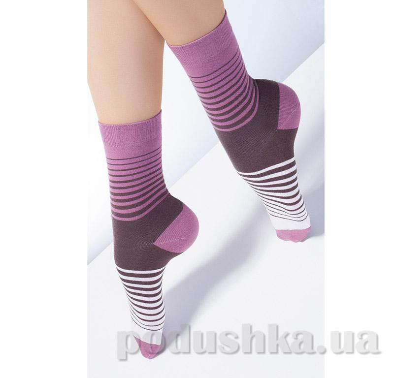 Носки женские в полоску CG-09 Giulia Lilac