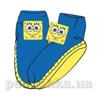 Носки-тапочки махровые Sun city голубые