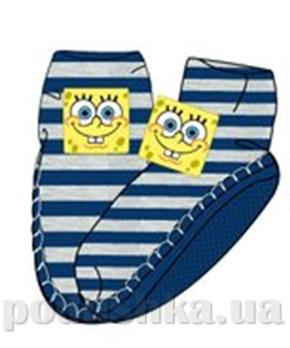 Носки-тапочки махровые Sun city синие в полоску