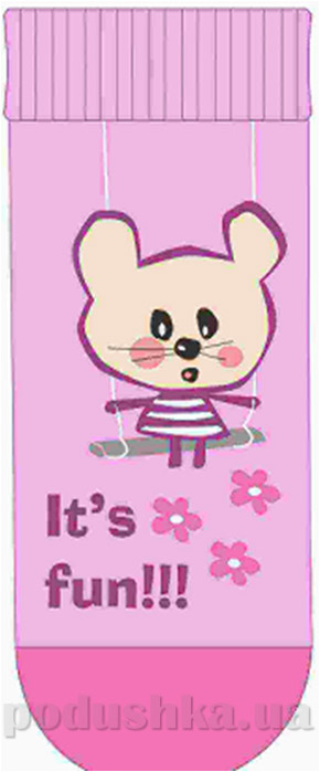 Носочки махровые детские Кребо 1028-02 Мышка