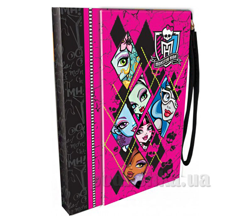 Блокнот-ноутбук с ручкой из исскуственной кожи Monster High