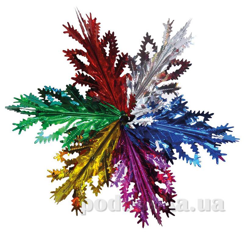 Новогоднее украшение Снежинка радуга Новогодько 800755