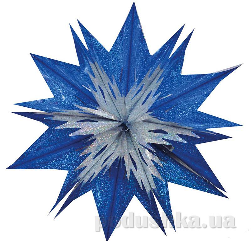 Новогоднее украшение Звезда радуга Новогодько 800749
