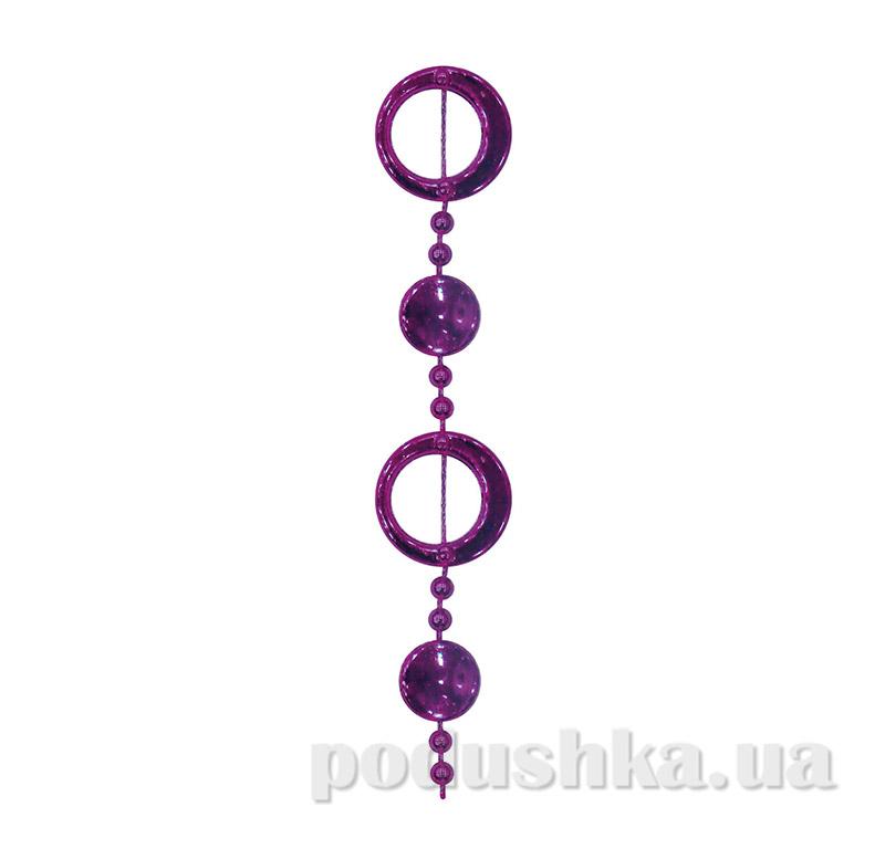 Новогодние бусы фиолетовые колечки 972127