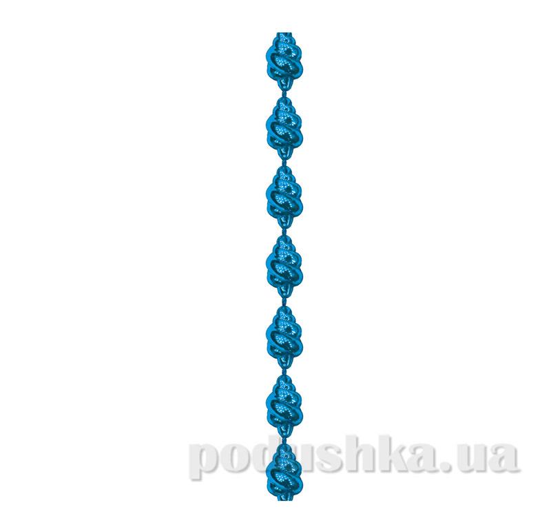 Новогодние бусы голубая Ракушка 972109