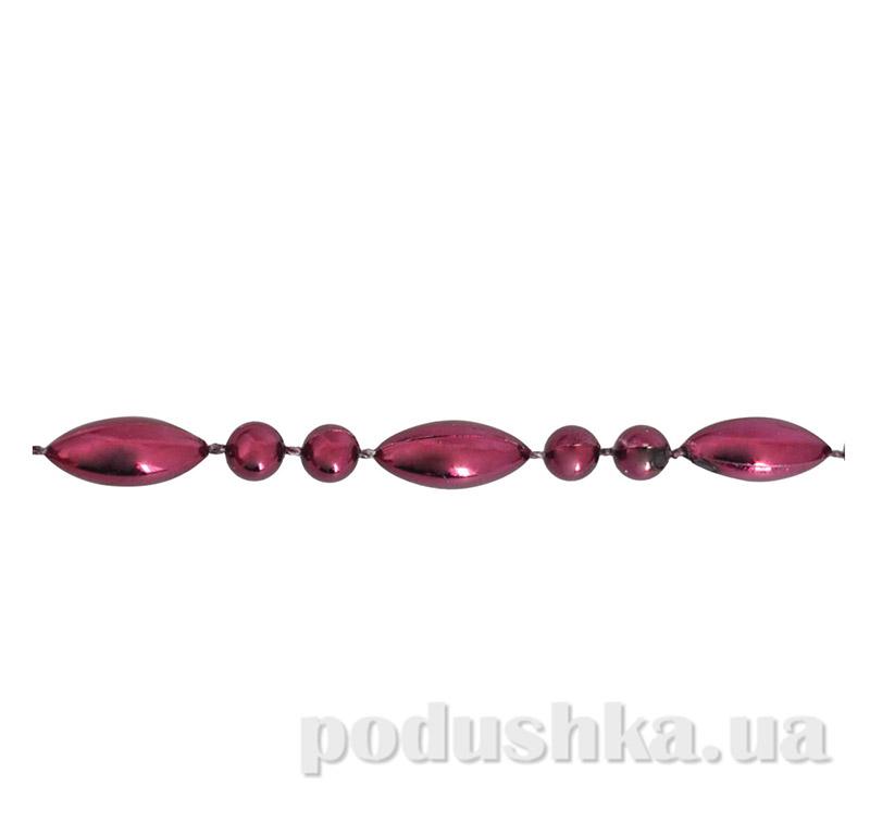 Новогодние бусы Капля Вина 972091 бургунди