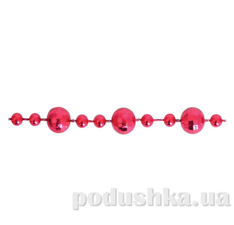 Новогодние бусы красные Рубиновая нить 971989