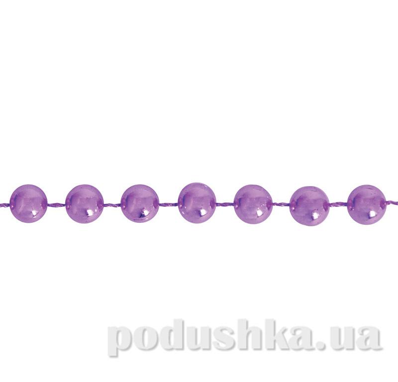 Новогодние бусы светло-фиолетовые Новогодько