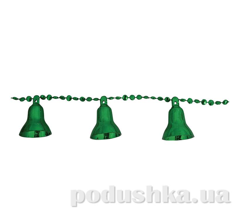 Новогодние бусы зеленые Рождественские колокольчики 971975