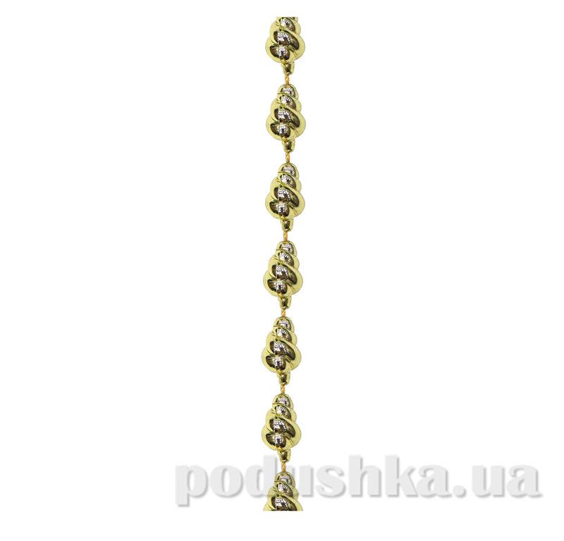 Новогодние бусы золотая Ракушка 972105