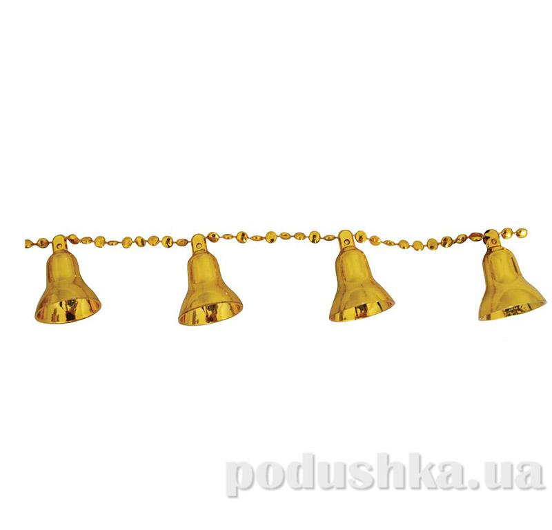 Новогодние бусы золотые Рождественские колокольчики 971974