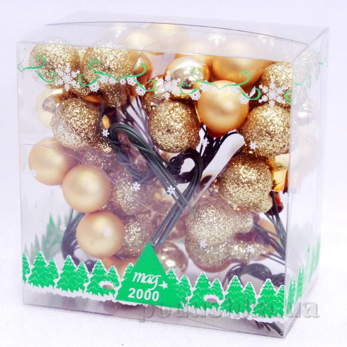 Новогодние украшение 4 веточки шаров Девилон 390564