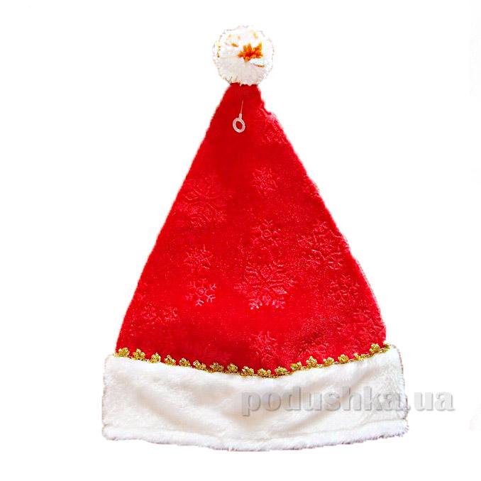 Новогодняя шапка со снежинками 460281