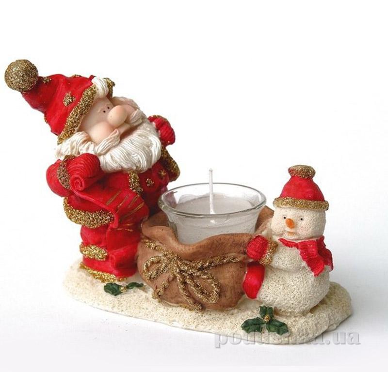 Новогодний подсвечник Дед Мороз и снеговик Девилон 950804