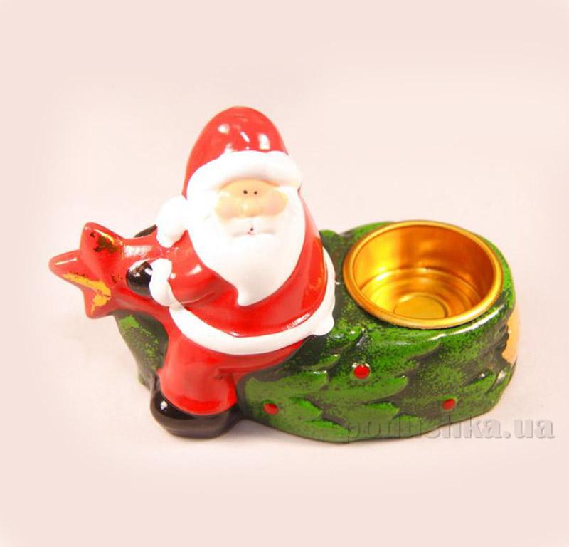 Новогодний подсвечник Дед Мороз с елкой Девилон 013180