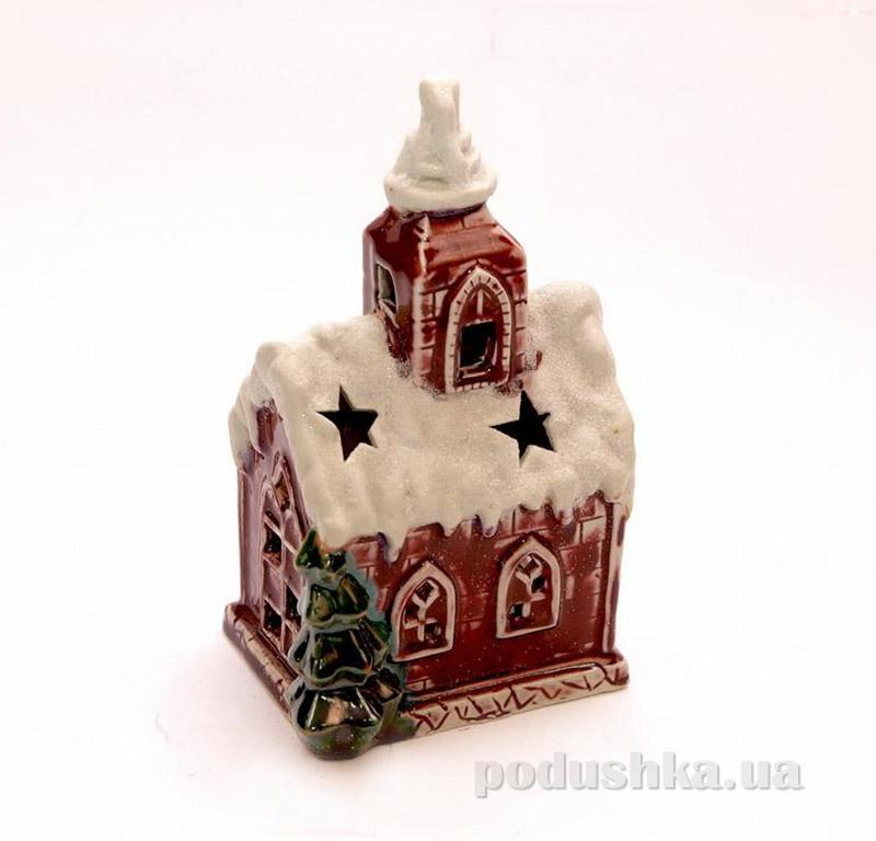 Новогодний подсвечник Красный дом Девилон 003994