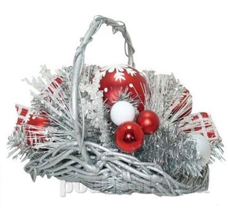 Новогодняя декоративная корзина Новогодько 800594