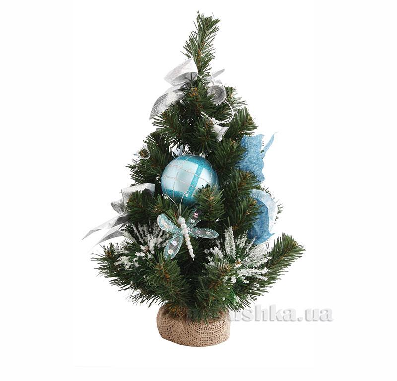 Новогодняя елка с украшением Пуансеттия Новогодько 960229