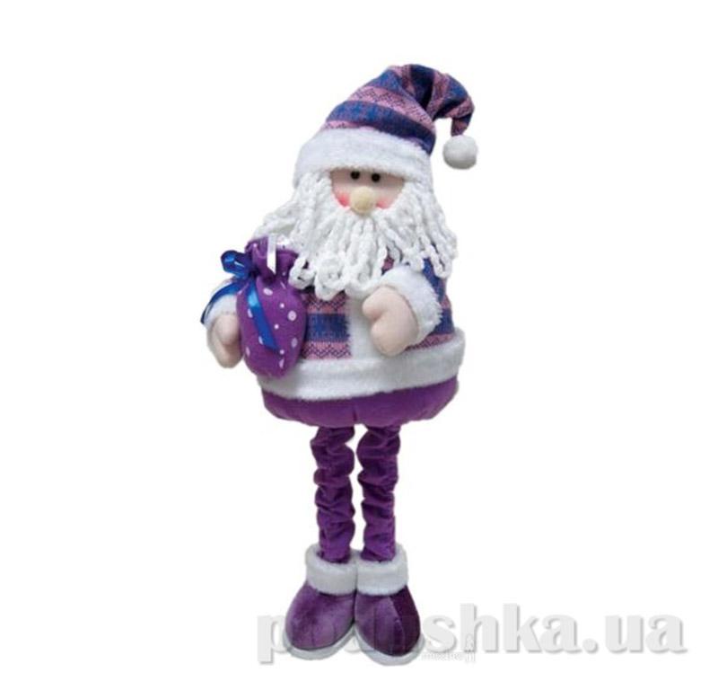 Новогодняя игрушка Санта Клаус с подарком Новогодько 800686
