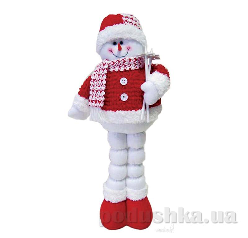 Новогодняя мягкая игрушка Снеговик Новогодько 800693