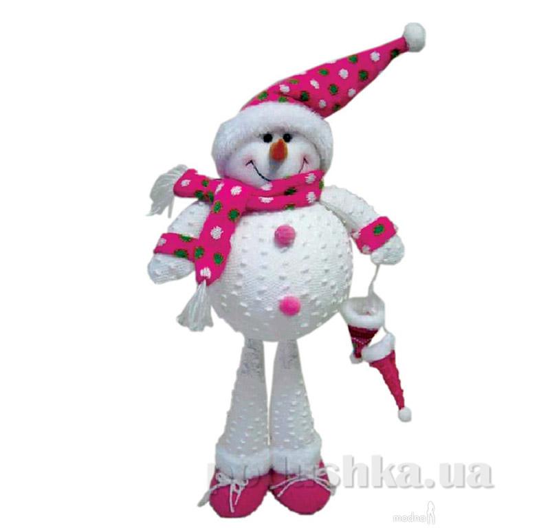 Новогодняя мягкая игрушка Снеговик Новогодько 800701
