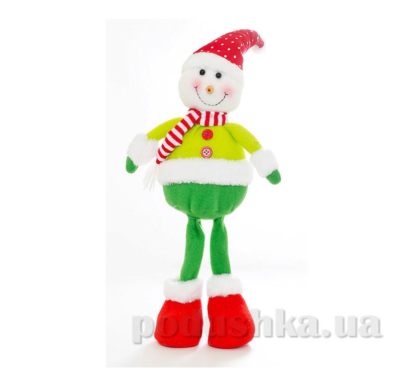 Новогодняя мягкая игрушка Снеговик Новогодько 800985