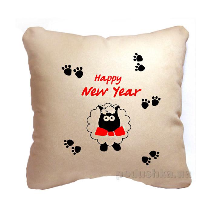 Новогодняя подушка Hаppy New Year Slivki 25