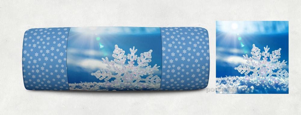 Новогодняя подушка Сказка Снежинка 06 Izzihome