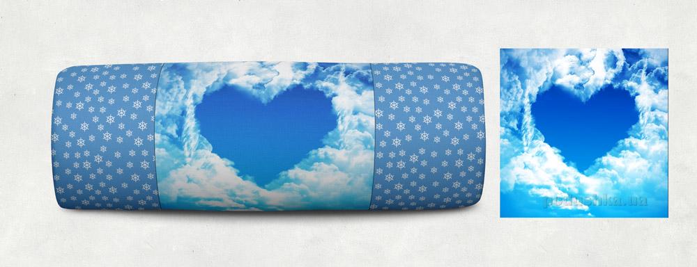 Новогодняя подушка Сказка Сердце 04 Izzihome