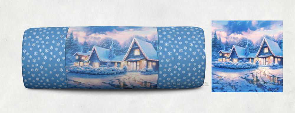 Новогодняя подушка Сказка Зимний Дом 10 Izzihome