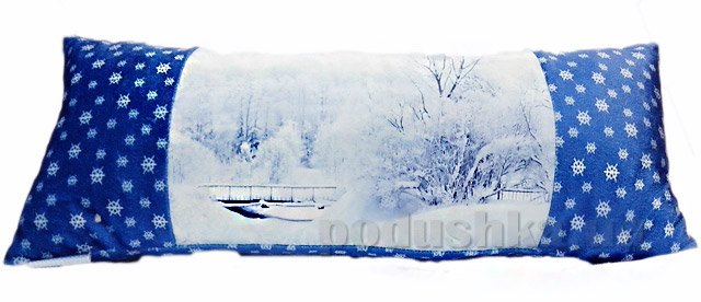 Новогодняя подушка Сказка Зима Izzihome