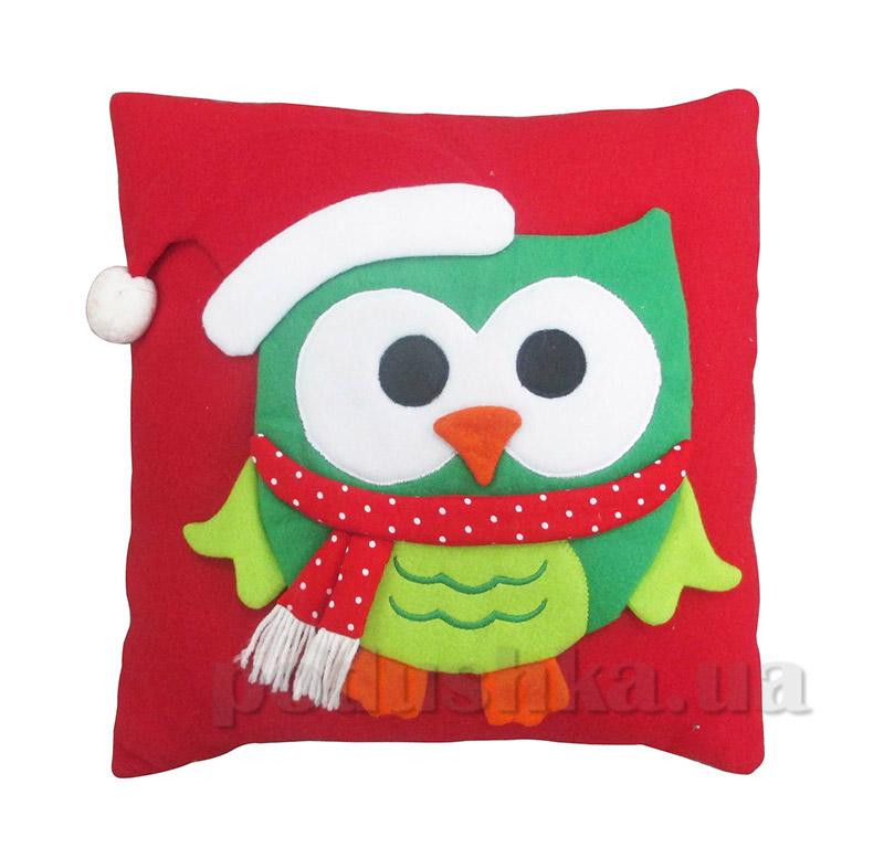 Новогодняя подушка Сова Новогодько 800973