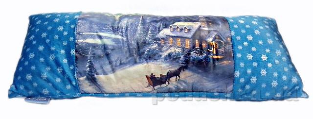 Новогодняя подушка Зимний Домик Izzihome