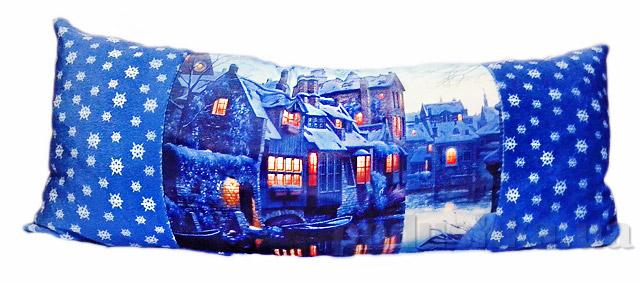 Новогодняя подушка Зимняя ночь Izzihome