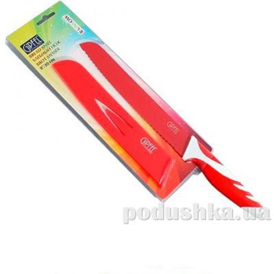 Нож хлебный красный Gipfel RAINBOW 200 мм