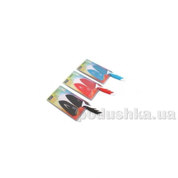 Нож Сантоку черный 4,5'' с антипригарным покрытием, ручка пластик, упаковка блистер Gipfel (углеродистая сталь)