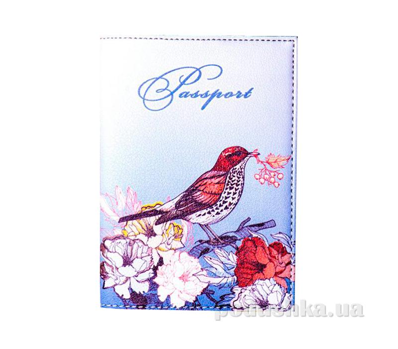 Обложка из эко-кожи Valex Птичка с цветами