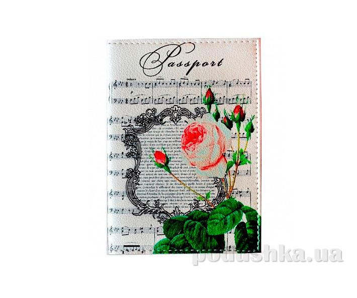 Обложка из эко-кожи Valex Роза и ноты