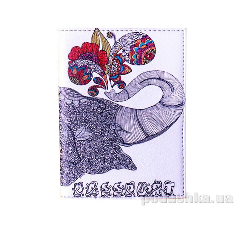 Обложка из эко-кожи Valex Слон