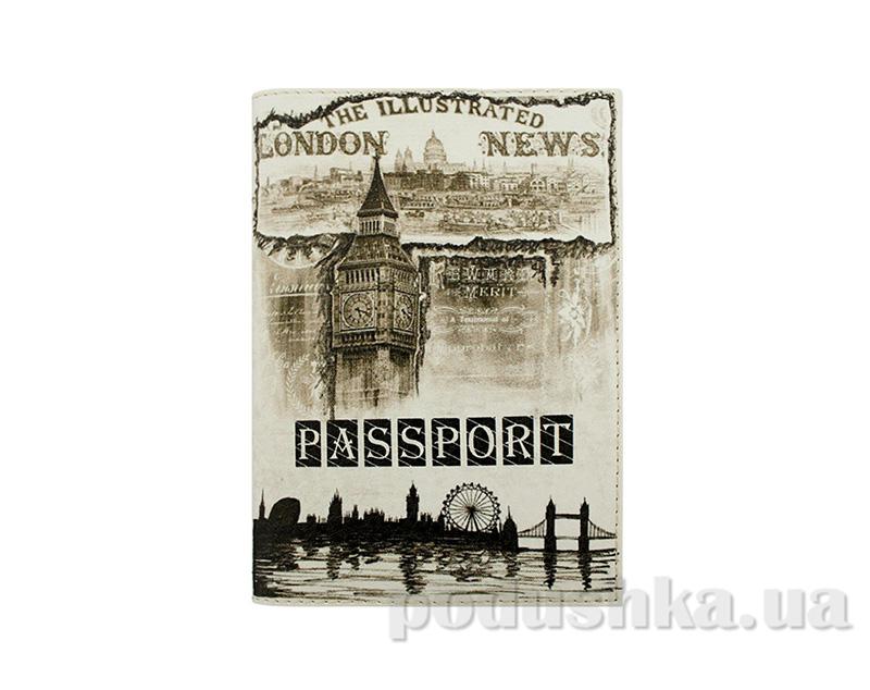 Обложка из эко-кожи Valex Старинный Лондон P-15