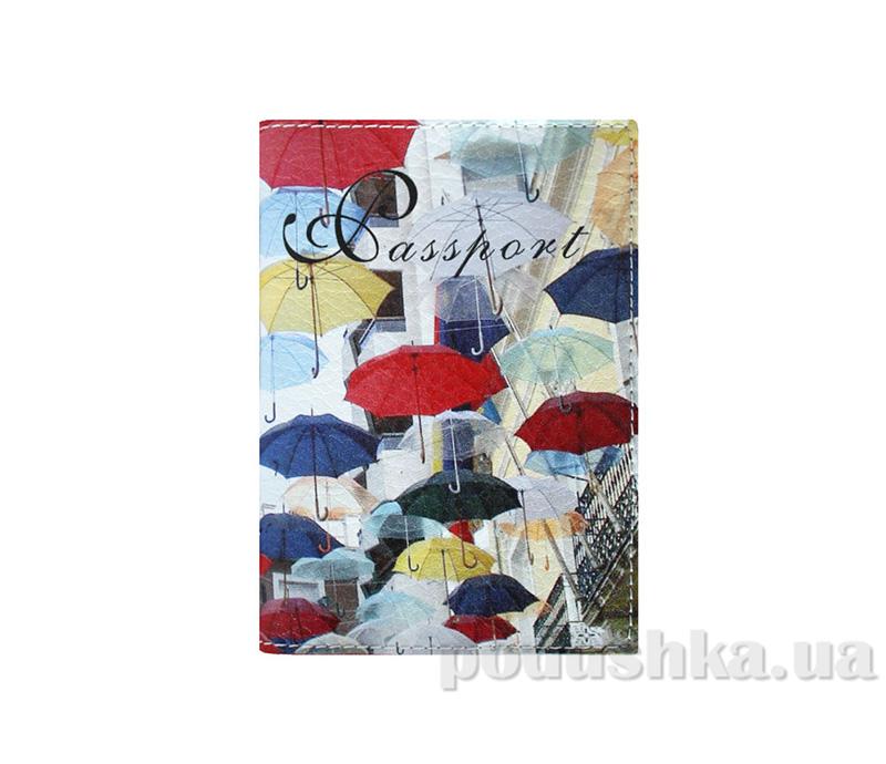 Обложка из эко-кожи Valex Цветные зонтики P-31