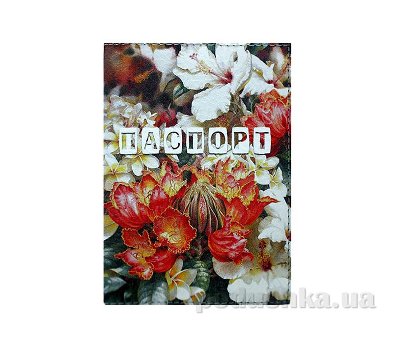 Обложка из эко-кожи Valex Цветочное очарование P-20