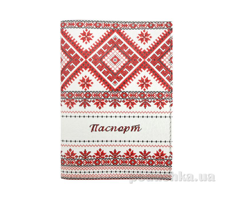 Обложка из эко-кожи Valex Украинский орнамент P-96