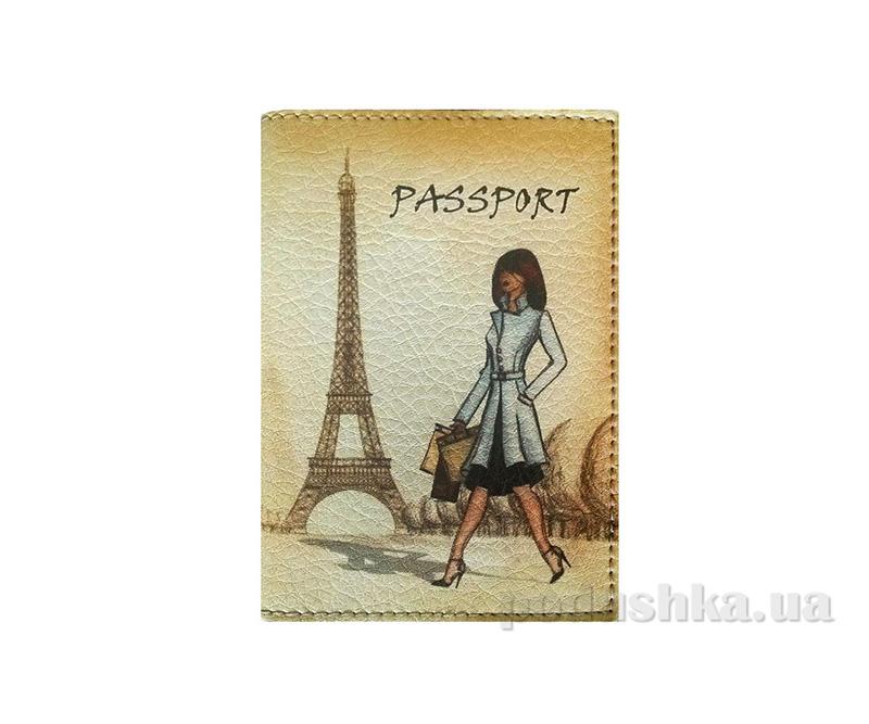 Обложка из эко-кожи Valex Винтажный Париж P-112