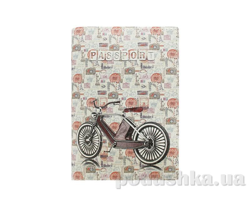 Обложка из эко-кожи Valex Винтажный велосипед P-18