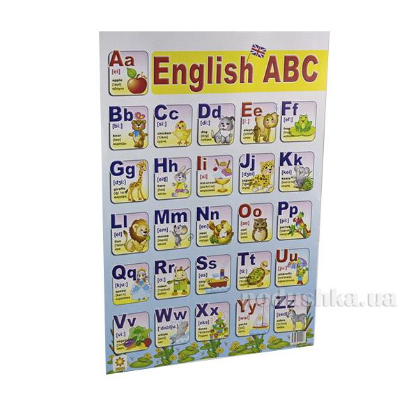 Обучающий плакал Английская азбука Зірка 06242917